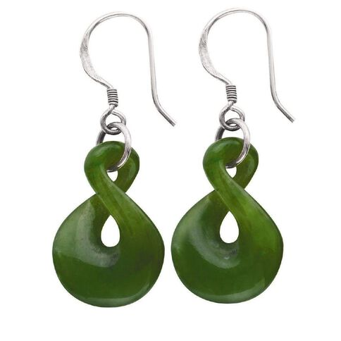 Jade Twist Earrings