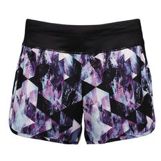 Active Intent Women's Plain with Printed Outer Bike Shorts