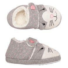 A'nD Kids' Cat Spotty Slippers