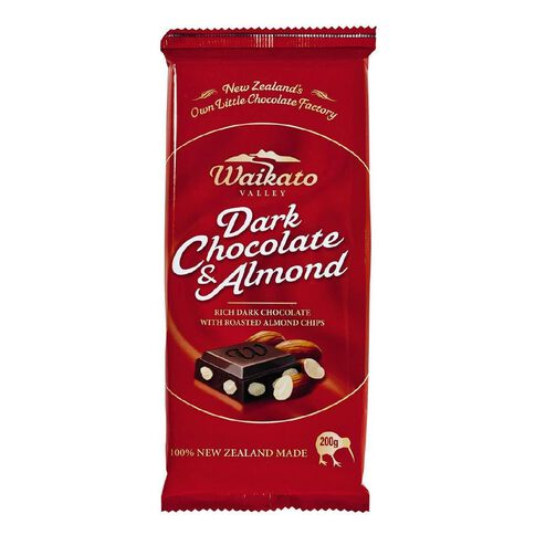 Waikato Valley Chocolates Dark Almond Tablet 200g