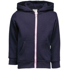 Basics Brand Toddler Girl Zip-Thru Hoodie