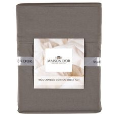 Maison d'Or Sheet Set 400 Thread Count Charcoal King