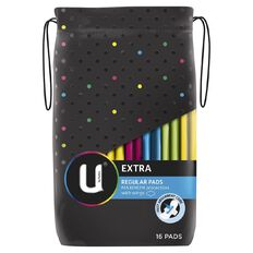 U By Kotex Maxi Pad Regular Wings 16s