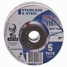 Atlas Angle Grinding Disc 115mm 5 Pack