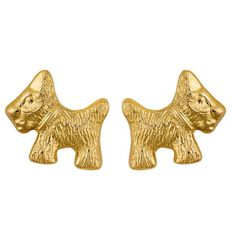9ct Gold Scotty Dog Earrings