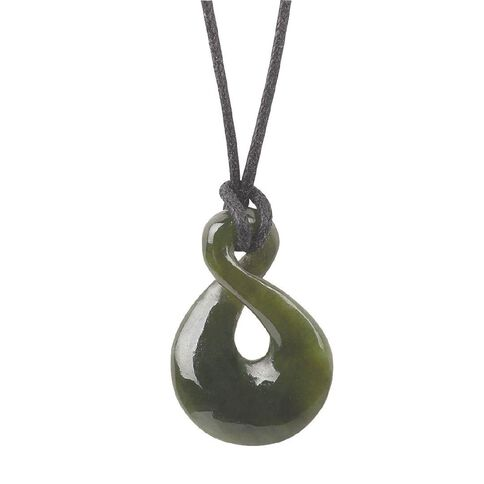 Small Twist Jade Pendant