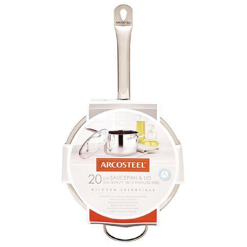 Arcosteel Kitchen Essentials Stainless Steel Saucepan 20cm x 12cm