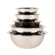 Necessities Brand Stainless Steel Nested Bowls Set 5 Piece