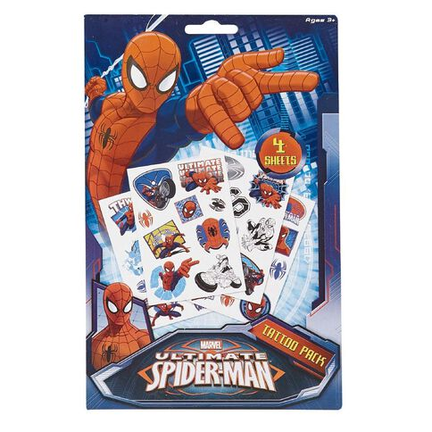 Spider-Man Tattoo Pack 4 Pages