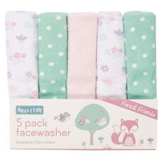 Rocco And Tolly Forest Friends Facewasher 5 Pack