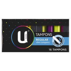 U By Kotex Regular Tampons 16 Pack