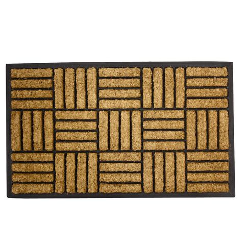 Mat Heavy Duty Patterned Coir & Rubber