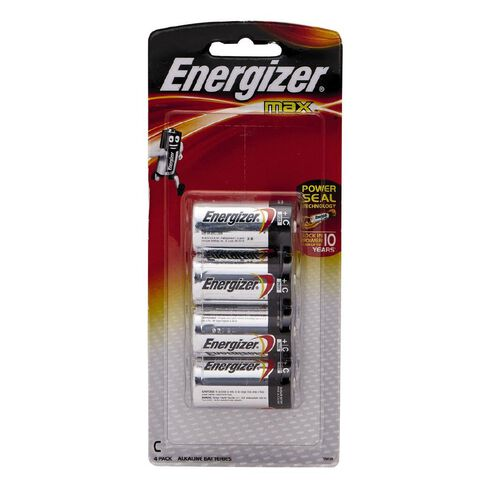 Energizer Max Batteries C 4 Pack