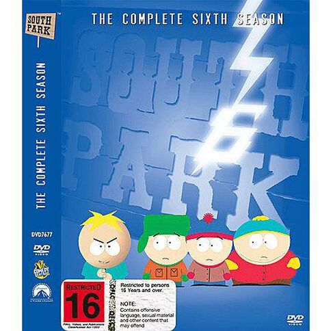 South Park Season 6 DVD 3Disc