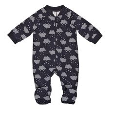 Hippo + Friends Baby Boy All Over Print Fleece All-in-One