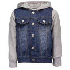Hippo + Friends Toddler Boy Denim Hoodie Jacket