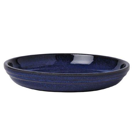 Round Saucer Blue 22cm