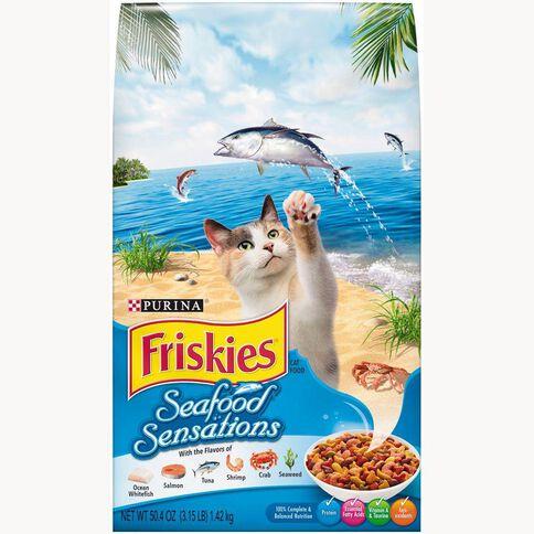 Friskies Seafood Sensations Dry Cat Food 1.42kg