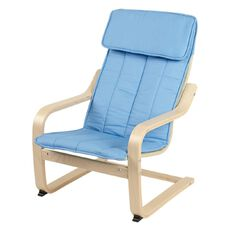Ikea Poang Kids' Armchair Almas Blue/Birch Veneer 47cm x 68cm