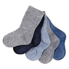 H&H Infants Boys' Stay On Socks 5 Pack