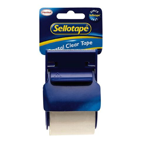 Sellotape 1263 Crystal Clear Parcel Tape with Dispenser 48mm x 20m