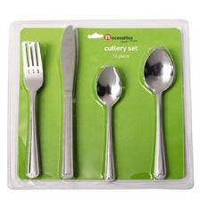 Necessities Brand Stainless Steel Cutlery Set 16 Piece