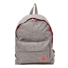 Roxy Sugar Baby Plain Backpack Heritage Grey