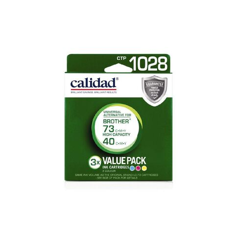 Calidad Brother Ink LC73 CMY 3 Pack