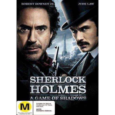 Sherlock Holmes 2 A Game of Shadows DVD 1Disc