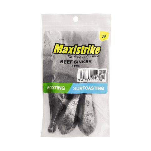 Maxistrike Fishing Sinkers Reef 3 oz 3 Pack
