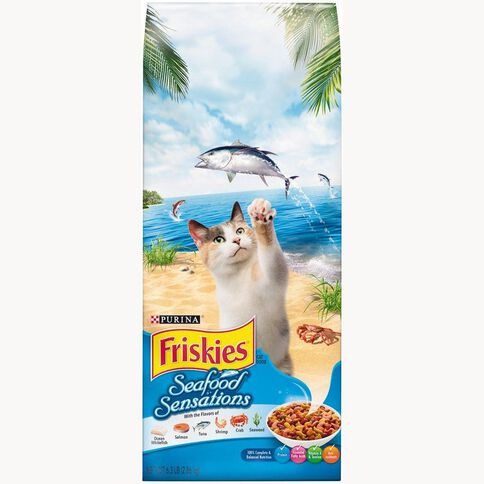 Friskies Seafood Sensations Dry Cat Food 2.86kg