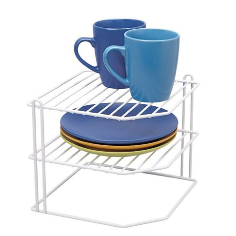 Living & Co Pantry Wire Corner Plate Rack
