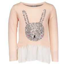 Hippo + Friends Toddler Girl Peplum Bunny Jumper