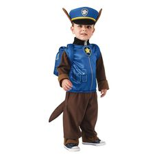 Paw Patrol Chase Costume Size Small