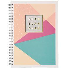 Stylo Blah Blah Blah Spiral Notebook Gold Foil A4