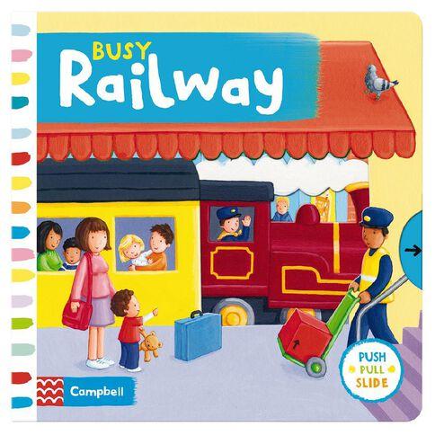 Busy Railway Board Book by Rebecca Finn