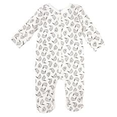 Hippo + Friends Baby Cotton Domed All-in-One