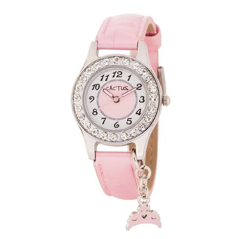Cactus Kids' Charm Watch With Diamante Dial CAC-71-L05
