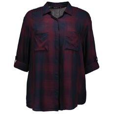 Kate Madison Roll Sleeve Check Shirt