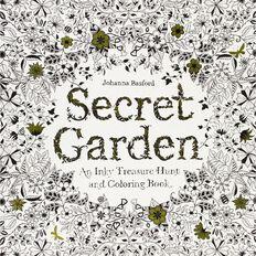 Secret Garden: Inky Treasure Hunt & Colouring Book by Johanna Basford