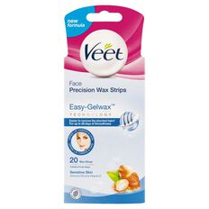 Veet Face Easy Grip Wax Strips Sensitive 20 Strips