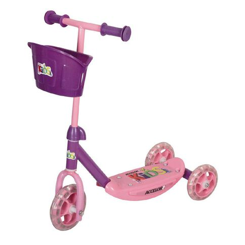 Accelor8 Kids' 3 Wheel Scooter Assorted Colours