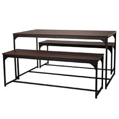 Living & Co Portland Dining Table & Bench Seat