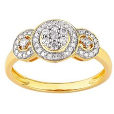 1/4 Carat of Diamonds 9ct Gold Diamond Trilogy Ring