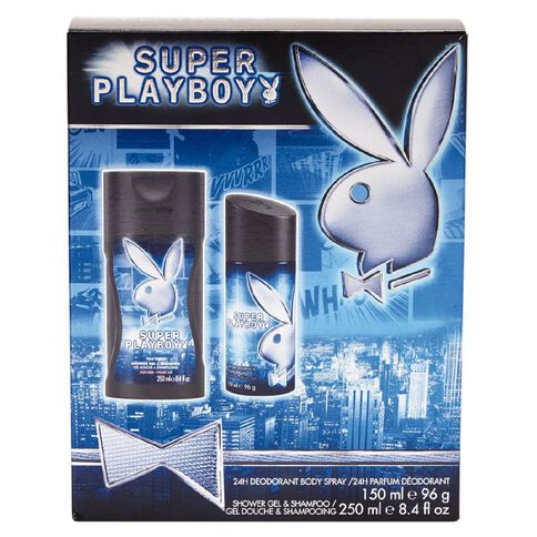 Playboy Super Playboy Body Spray 150ml + Shower Gel Shampoo 250ml Set