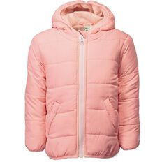Hippo + Friends Toddler Girl Plain Puffer Jacket