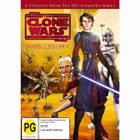 Star Wars Clone Wars Season 2 Volume 2 DVD 1Disc