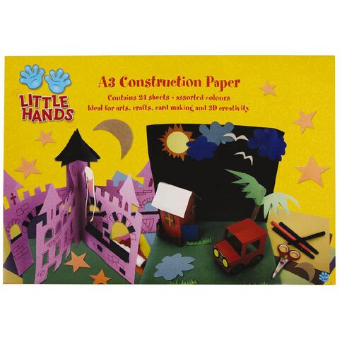 Little Hands Construction Pad  A3 24 Sheets