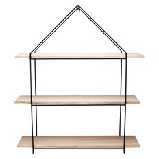 House Shaped Metal Wall Shelf 3 Tier 60cm x 14cm x 70cm