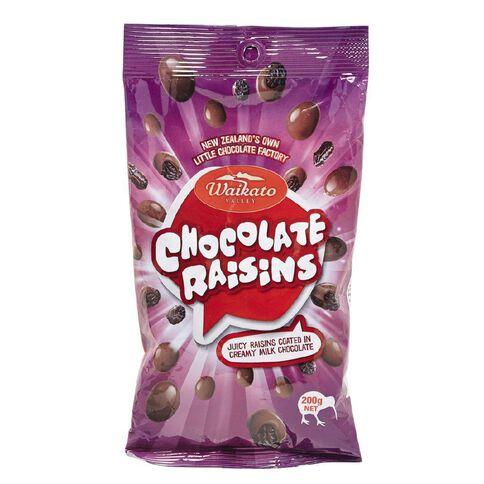 Waikato Valley Chocolates Milk Chocolate Raisin Bag 200g